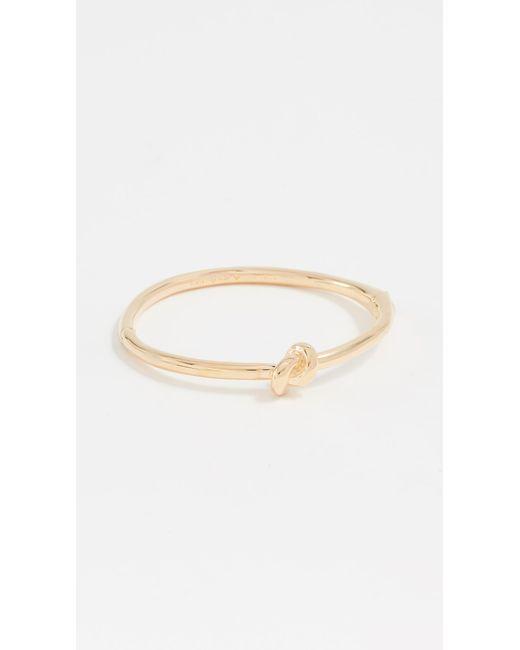 Kate Spade - Metallic Sailor's Knot Bangle Bracelet - Lyst