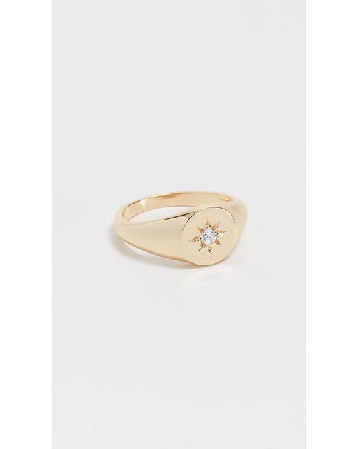 Shashi - Metallic Starburst Signet Ring - Lyst