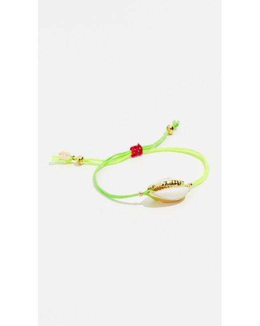 Shashi - Green Caroline Neon Slide Bracelet - Lyst