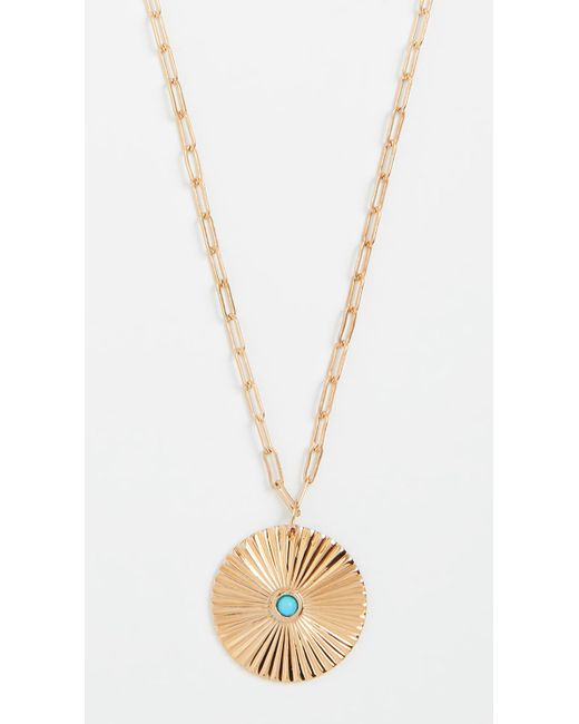 Jennifer Zeuner - Metallic Iris Turquoise Pendant Necklace - Lyst
