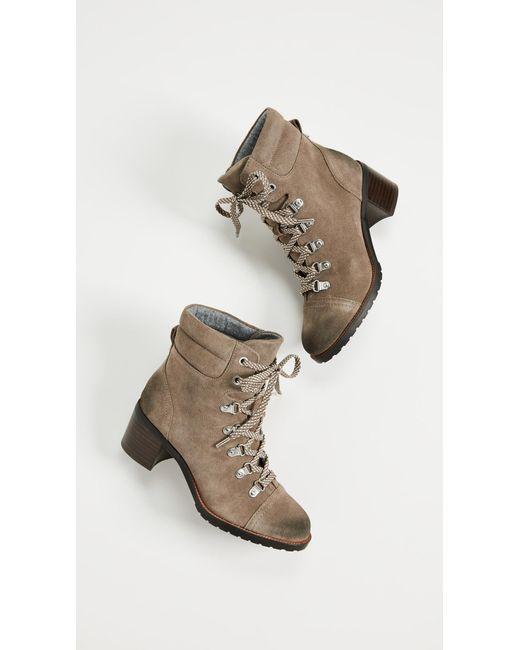 2a5da79b582d98 ... Sam Edelman - Gray Manchester Boots - Lyst ...