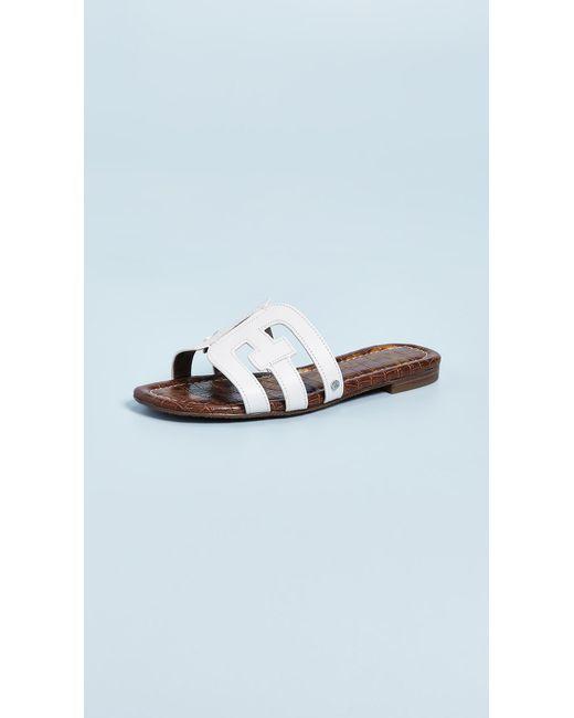 76128dca6ba9 Sam Edelman Bay Slide Sandal in White - Save 6% - Lyst