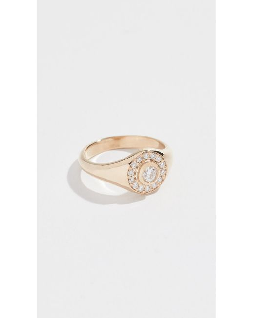 Zoe Chicco - Metallic 14k Signet Ring - Lyst