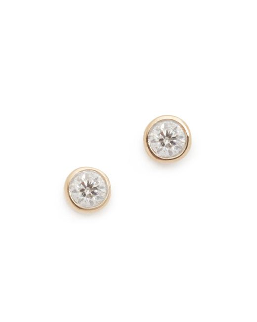 Adina Reyter | Metallic Single Diamond Stud Earrings | Lyst