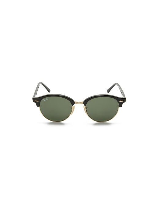 16e0b32137 ... Ray-Ban - Green Rb4246 Clubmaster Round Sunglasses - Lyst ...