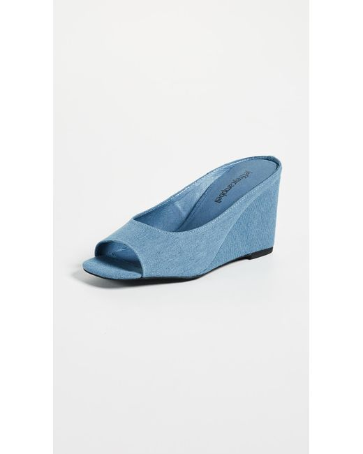 Jeffrey Campbell - Blue Generous Peep Toe Wedges - Lyst