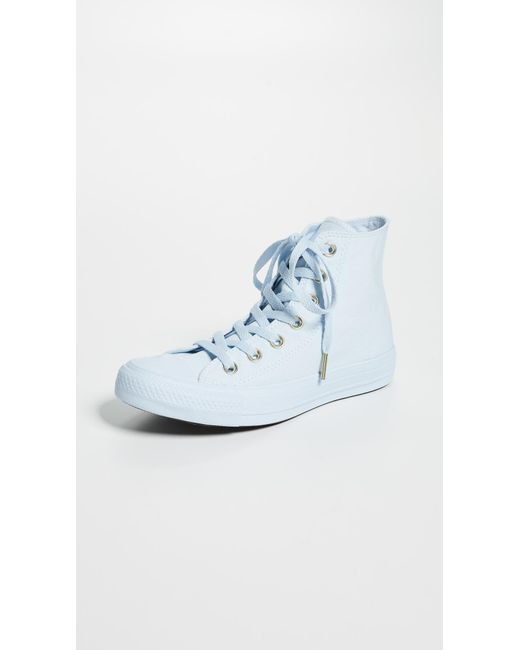 a83084f5d8ce Converse - Blue Chuck Taylor All Star Ox Sneakers - Lyst ...
