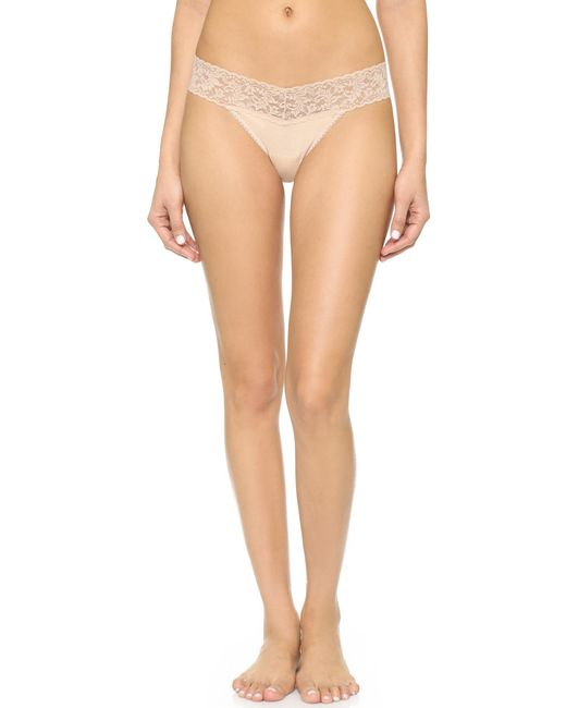 Hanky Panky | White Cotton With A Conscience Low Rise Thong | Lyst