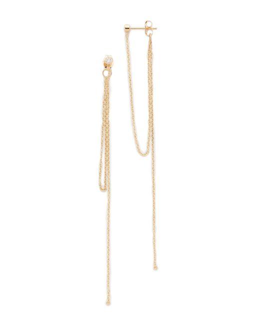 Zoe Chicco | Metallic Connecting Chain Fringe Earrings | Lyst