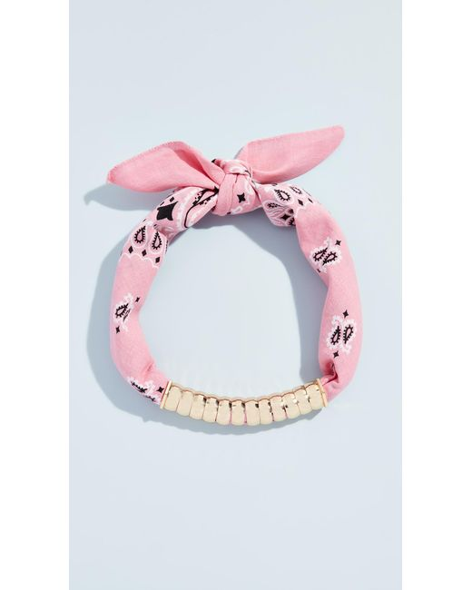 Holst + Lee - Pink Bandana Necklace - Lyst