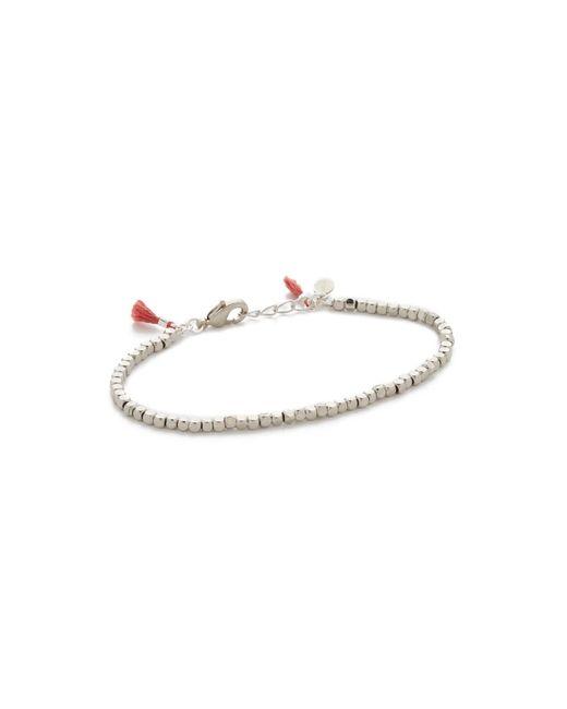 Shashi | White Nugget Clasp Bracelet | Lyst