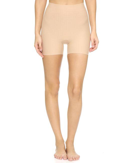 Commando - Natural Cotton Control Shortie Shorts - Lyst