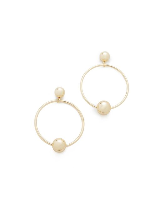 Shashi | Metallic Tiffany Hoop Earrings | Lyst