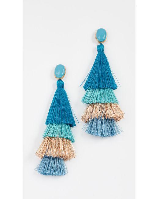 Deepa Gurnani   Blue Jasmine Deepa By Earrings   Lyst