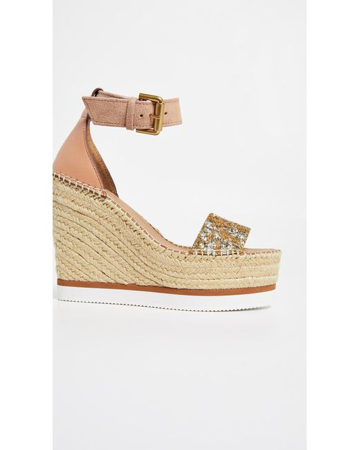 b42b27939 See By Chloé Glyn Wedge Espadrilles in Natural - Save 29% - Lyst