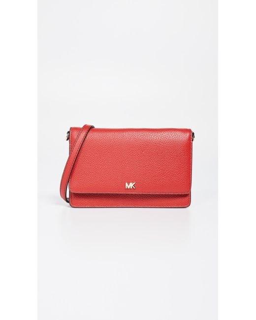 f6f8ca059e189 MICHAEL Michael Kors - Red Phone Crossbody Bag - Lyst ...