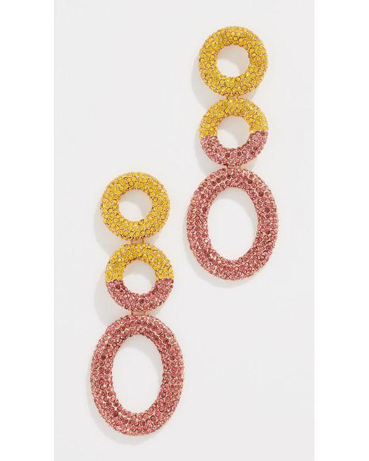 Baublebar Pink Mimi Hoop Earrings Lyst