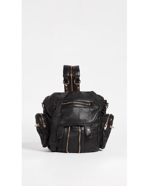 Alexander Wang - Black 'mini Marti' Washed Leather Three-way Backpack - Lyst