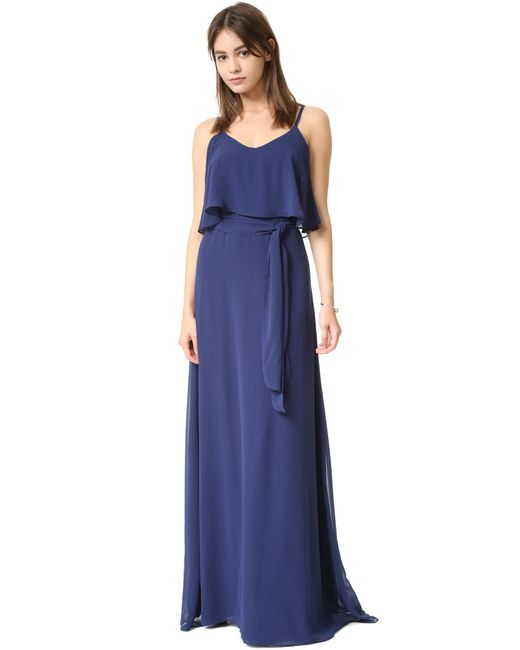 Joanna August - Blue Dani Maxi Dress - Lyst