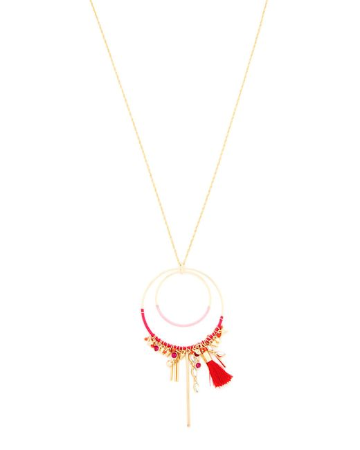 Rebecca Minkoff   Metallic Gemma Charm Pendant Necklace   Lyst
