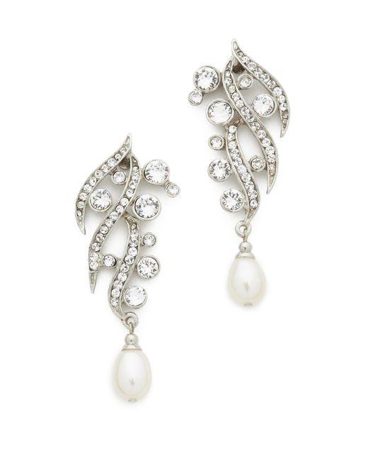 Ben-Amun | Metallic Branch Crystal Drop Earrings | Lyst
