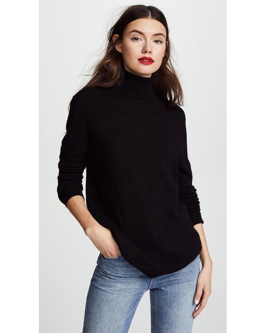 Equipment - Black Oscar Turtleneck Cashmere Sweater - Lyst