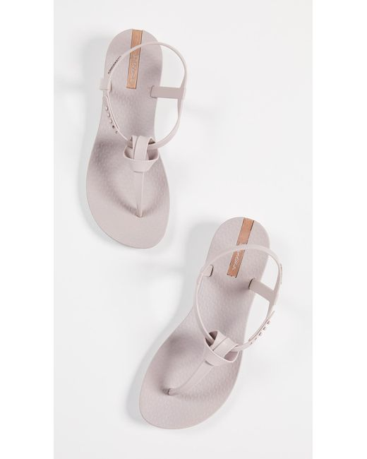 21e3fde3bc31 Lyst - Ipanema Ellie Knot T-strap Sandals in Natural - Save 40%