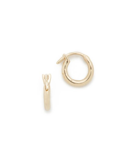 Adina Reyter | Metallic Huggie Hoop Earrings | Lyst