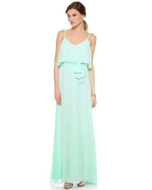 Joanna August - Green Dani Maxi Dress - Lyst