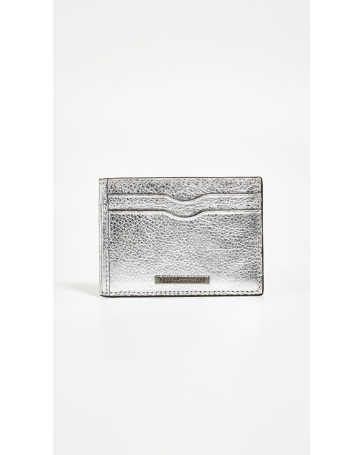 Rebecca Minkoff - Metallic Metro Card Case - Lyst