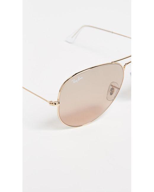 2bbc94f3433 ... Ray-Ban - Metallic Rb3025 Oversized Mirrored Original Aviator Sunglasses  - Lyst ...