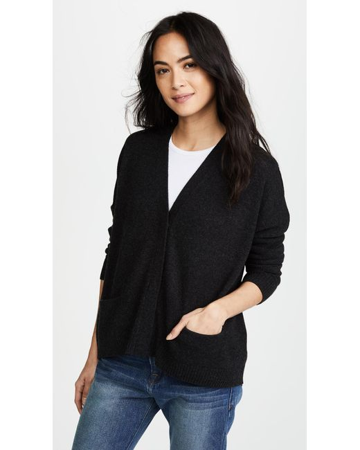 Vince - Black Snap Cardigan - Lyst