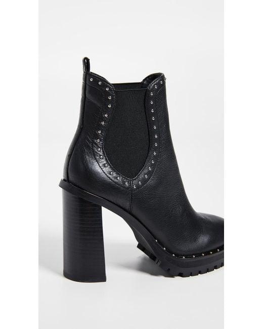aa2d37e16c9 ... Rebecca Minkoff - Black Edolie Block Heel Chelsea Boots - Lyst ...