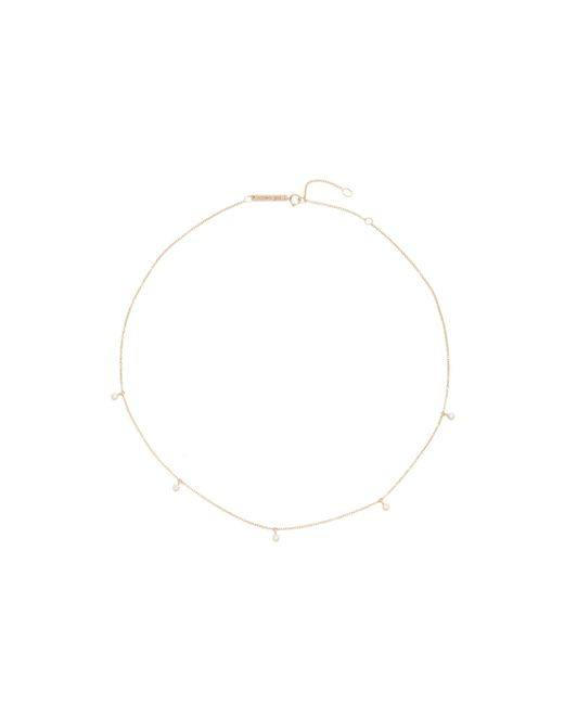 Zoe Chicco - Multicolor Five Diamond Chain Choker Necklace - Lyst