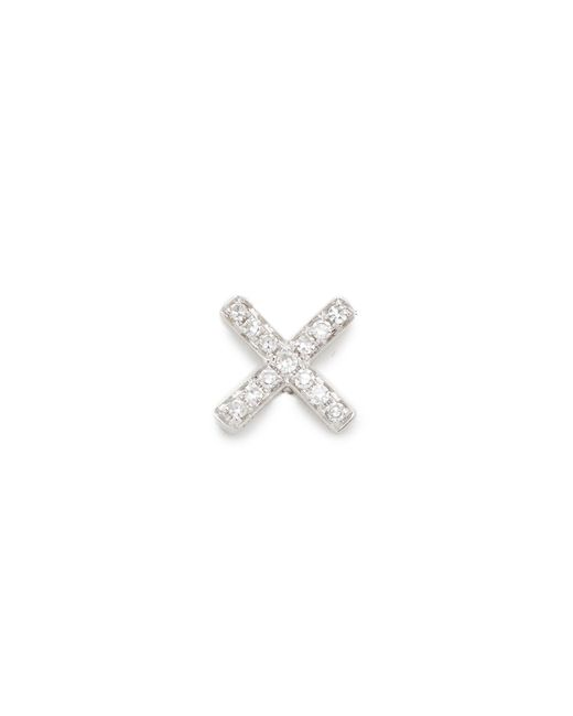 EF Collection - Multicolor Diamond X Single Stud Earring - Lyst