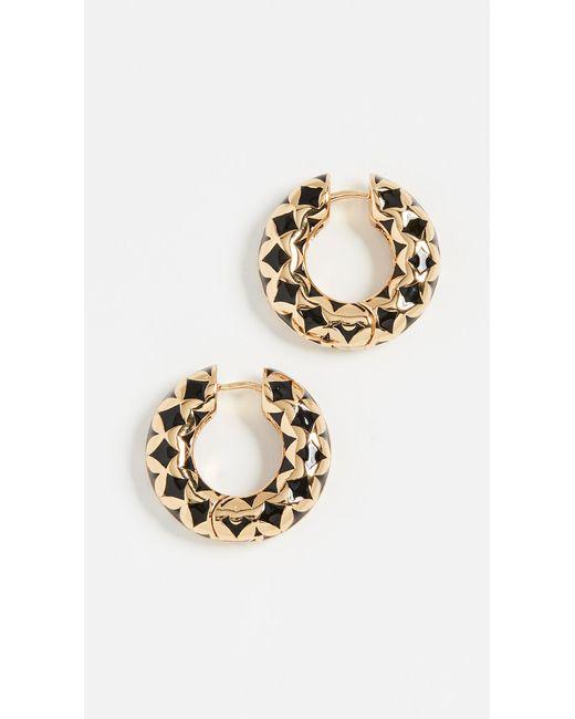 BaubleBar - Black Vasantha Huggie Hoop Earrings - Lyst