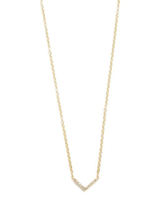 EF Collection | Metallic Diamond Mini Chevron Necklace | Lyst
