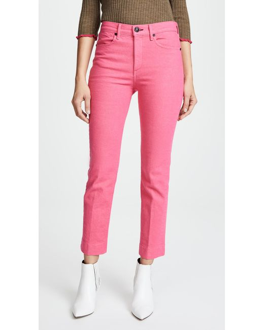 Rag & Bone - Pink Ankle Cigarette Jeans - Lyst