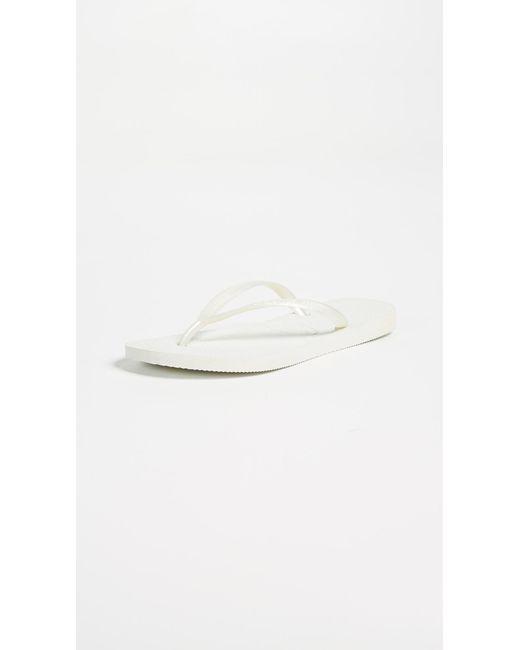 Havaianas - White Slim Flip Flops - Lyst