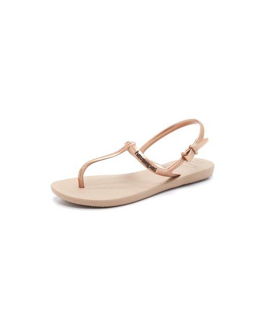 Havaianas | Pink Freedom T Strap Sandals | Lyst