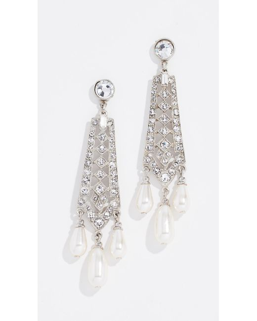 Ben-Amun - Multicolor Crystal And Imitation Pearl Drop Earrings - Lyst