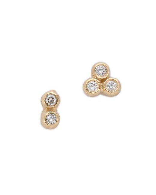 Blanca Monros Gomez | Metallic Asymmetrical Seed Stud Earrings | Lyst