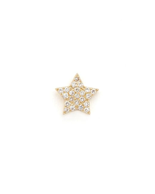 EF Collection - Metallic Diamond Star Single Stud Earring - Lyst