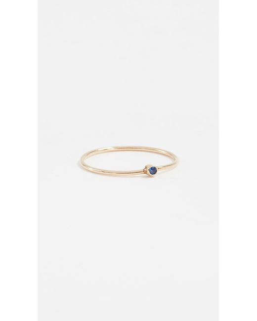 Jennifer Meyer - Blue Thin Ring With Sapphire - Lyst