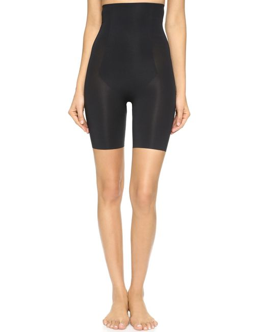 Spanx - Black Thinstincts Targeted High Waist Shorts - Lyst