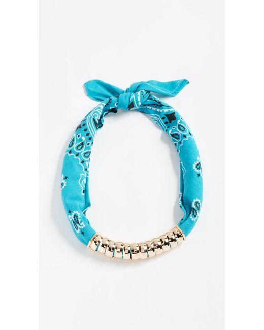 Holst + Lee - Blue Bandana Necklace - Lyst