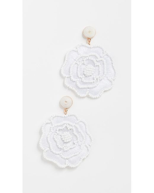 BaubleBar - White Wrapped Stud Thread Earrings - Lyst