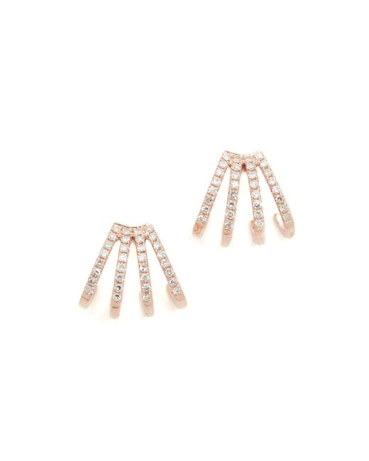 EF Collection | Multicolor Multi Diamond Huggie Earrings | Lyst