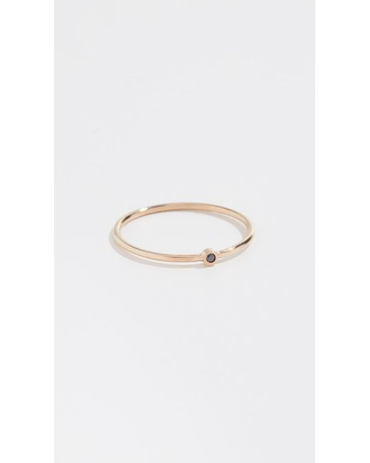 Zoe Chicco - Metallic 14k Thin Band Ring - Lyst
