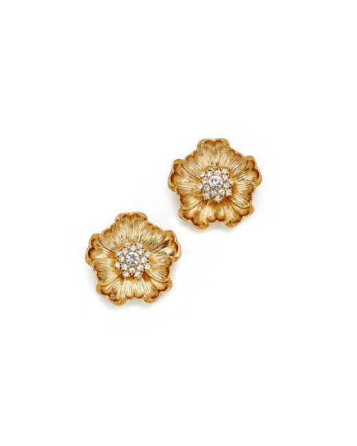 Kate Spade | Metallic Precious Poppies Stud Earrings | Lyst